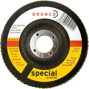 DFD114 DRONCO ZIRCONIUM FLAP DISC 115 X 22