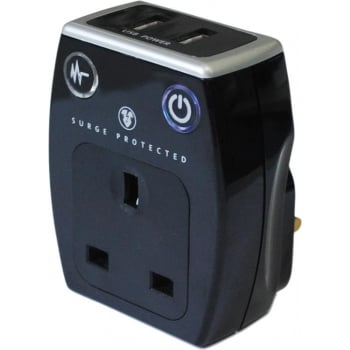 ERP71 SURGE PROTECTOR WITH 2 X USB SOCKETS