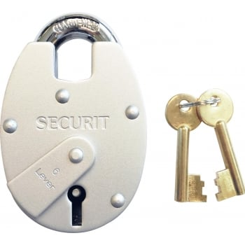 PAD16 6 LEVER CLOSE SHACKLE PADLOCK 63MM