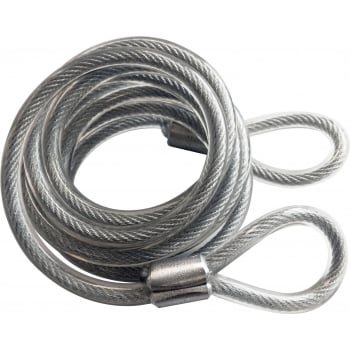 PAD22 SPIRAL SECURITY CABLE DOUBLE LOOP 2M
