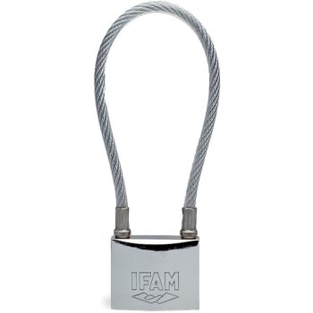 PAD350C IFAM STAINLESS STEEL PADLOCK 50MM CABLED