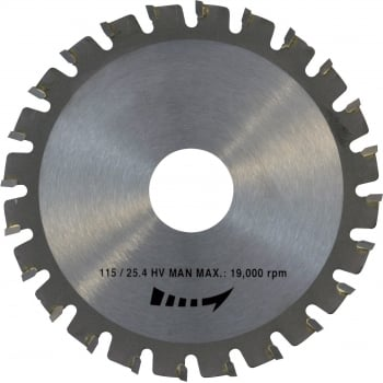 TL616 SAFESAW STEEL BLADE 115 X 25.4MM