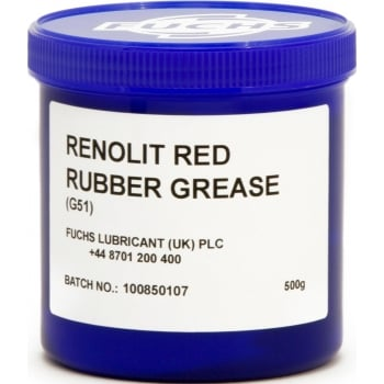 VC188 RENOLIT G51 RED RUBBER GREASE 500G TUB