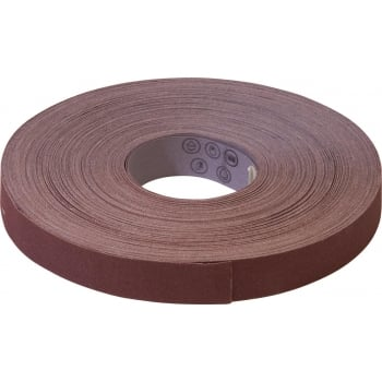 WER6 EMERY ROLL BROWN 25MM 120 GRIT 50M