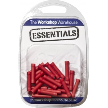 YET33 (5PACK OF 25) TERMINALS RED BUTT CONNECTOR