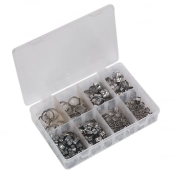 AB043SE O-CLIP SINGLE EAR ASSORTMENT 160PC STAINLESS