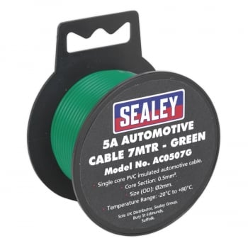 AC0507G AUTOMOTIVE CABLE THICK WALL 5A 7MTR GREEN