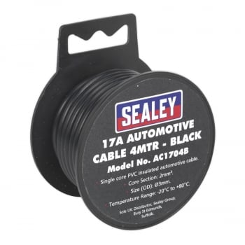 AC1704B AUTOMOTIVE CABLE THICK WALL 17A 4MTR BLACK