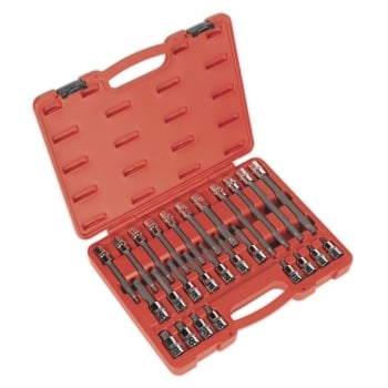 AK2195 SPLINE SOCKET BIT SET 26PC 1/2 SQ DRIVE