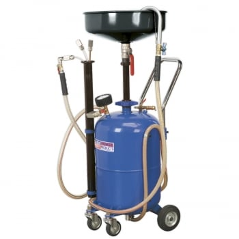 AK456DX MOBILE OIL DRAINER WITH PROBES 35LTR AIR DISC