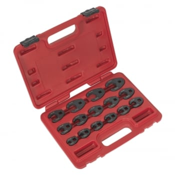 AK5983 CROW S FOOT SPANNER SET 15PC 3/8 SQ DRIVE ME