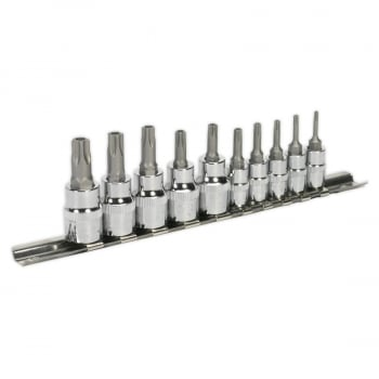 AK6227 SECURITY TRX-TS SOCKET BIT SET 10PC 1/4  3