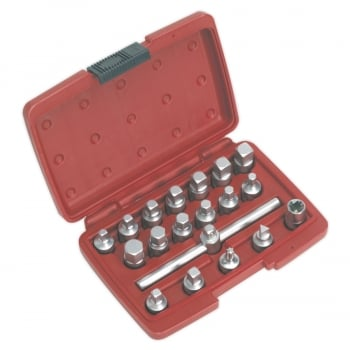 AK6586 OIL DRAIN PLUG KEY SET 19PC 3/8 SQ DRIVE