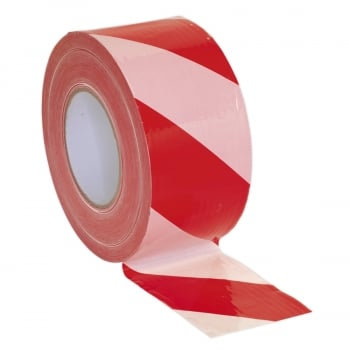BTRW HAZARD WARNING BARRIER TAPE 80MM X 100MTR RED