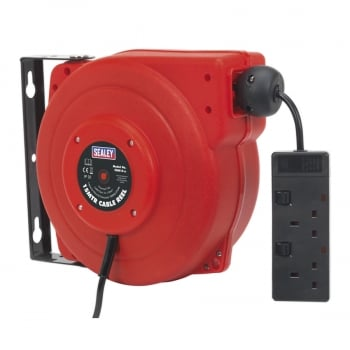 CRM15 CABLE REEL SYSTEM RETRACTABLE 15MTR 2 X 230V