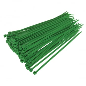 CT20048P100G CABLE TIE 200 X 4.8MM GREEN PACK OF 100