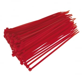 CT20048P100R CABLE TIE 200 X 4.8MM RED PACK OF 100