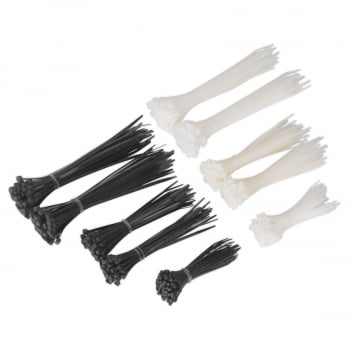 CT600BW CABLE TIE ASSORTMENT BLACK/WHITE PACK OF 600