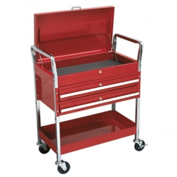 CX1042D TROLLEY 2-LEVEL HEAVY-DUTY WITH LOCKABLE TOP