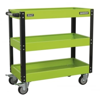 CX110HV WORKSHOP TROLLEY 3-LEVEL HEAVY-DUTY - HI-VIS