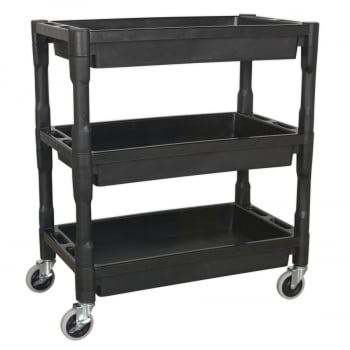 CX205 TROLLEY 3-LEVEL COMPOSITE HEAVY-DUTY