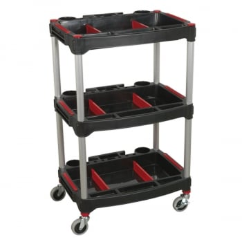 CX313 WORKSHOP TROLLEY 3-LEVEL COMPOSITE WITH PARTS