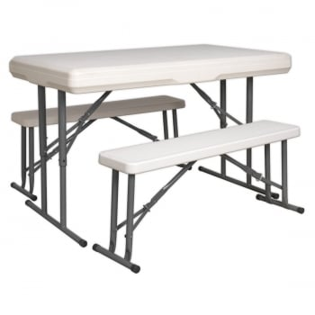 GL87 PORTABLE FOLDING TABLE BENCH SET