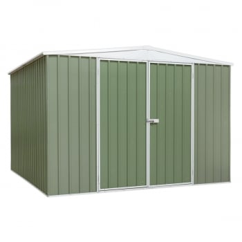 GSS3030G GALVANIZED STEEL SHED GREEN 3 X 3 X 2.1MTR