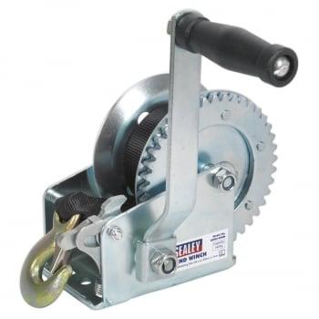 GWW1200M GEARED HAND WINCH 540KG CAPACITY WITH WEBBING