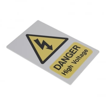 HVSA4 HIGH VOLTAGE WARNING SIGN 200 X 300MM