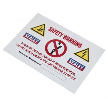 HYBRIDSIGN HYBRID/ELECTRIC VEHICLE WARNING SIGN