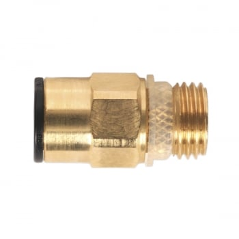 JGBC814 BRASS SUPERTHREAD STRAIGHT ADAPTOR 8MM X 1/4