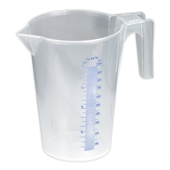 JT1000 MEASURING JUG TRANSLUCENT 1LTR