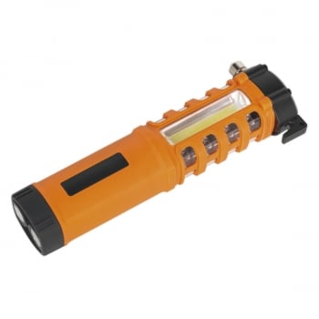LED059 EMERGENCY TORCH/BELT CUTTER/HAMMER - 2W COB +