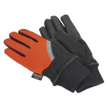 MG797L MECHANIC'S GLOVES HIGH VISIBILITY PU TOUCH TH