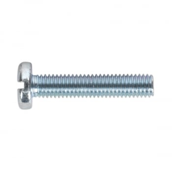 MSS525 MACHINE SCREW M5 X 25MM PAN HEAD SLOT ZINC DI