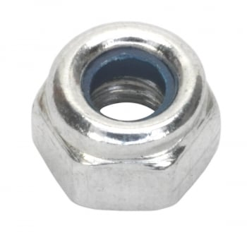 NLN4 NYLON LOCK NUT M4 ZINC DIN 982 PACK OF 100