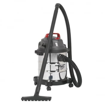 PC195SD VACUUM CLEANER WET DRY 20LTR 1250W STAINLES