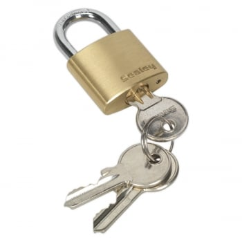 PL100 BRASS BODY PADLOCK 30MM