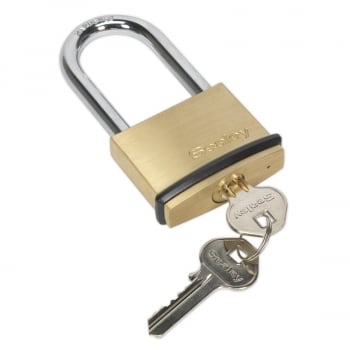 PL202L BRASS BODY PADLOCK LONG SHACKLE 50MM