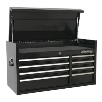 PTB104008 TOPCHEST 8 DRAWER 1040MM HEAVY-DUTY BLACK