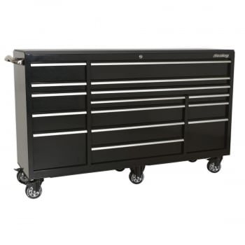 PTB183015 ROLLCAB 15 DRAWER 1845MM HEAVY-DUTY BLACK