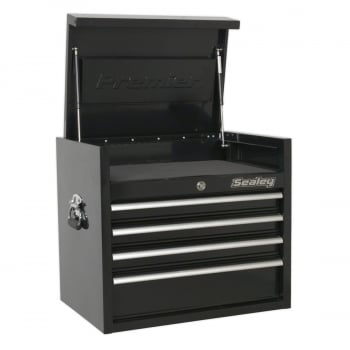 PTB66004 TOPCHEST 4 DRAWER 660MM HEAVY-DUTY BLACK