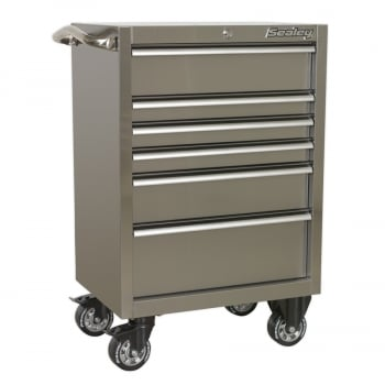 PTB67506SS ROLLCAB 6 DRAWER 675MM STAINLESS STEEL HEAVY-