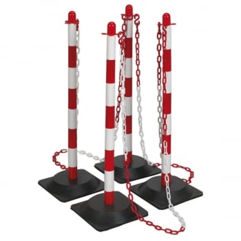 RWPKIT RED/WHITE POST & CHAIN KIT 6MTR