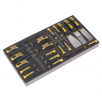 S01136 TOOL TRAY WITH HOOK & SCRAPER SET 18PC