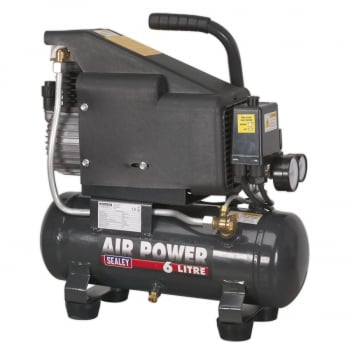 SAC0610E COMPRESSOR 6LTR DIRECT DRIVE 1HP
