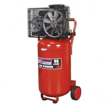 SAC1903B COMPRESSOR 90LTR VERTICAL BELT DRIVE 3HP