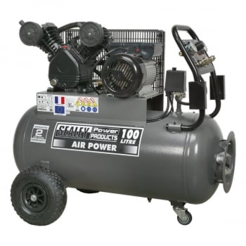 SAC3103B COMPRESSOR 100LTR BELT DRIVE 3HP WITH FRONT C