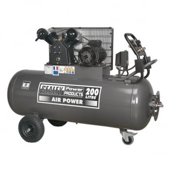 SAC3203B3PH COMPRESSOR 200LTR BELT DRIVE 3HP WITH FRONT C
